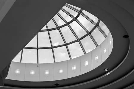 A dome skylight in a New Jersey shopping mall.