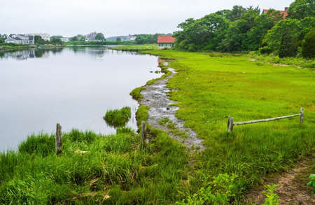 The inlet waterway in Centerville Massachusetts on Cape Cod