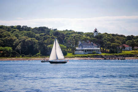 martha: A sailboat off the coast of Cape Cod a a nice Summer afternnon
