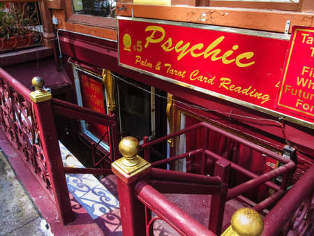 psychic: A psychic reading store fron t in Manhattan  Editorial