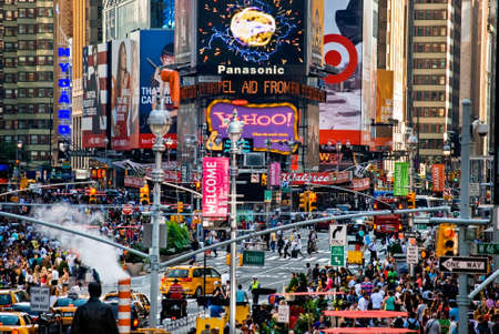 looked: NEW YORK-SEPTEMBER 2-A busy view of Times Square as it looked on September 2 2009 in New York City