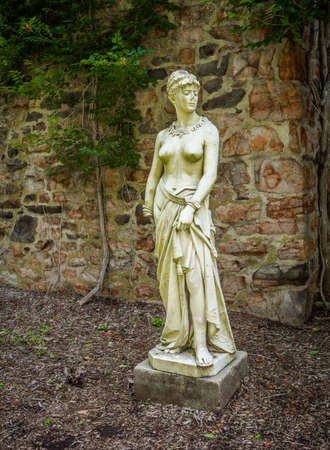 duke: Classical statues in the old barn at Duke Farms in Hillsborough NJ