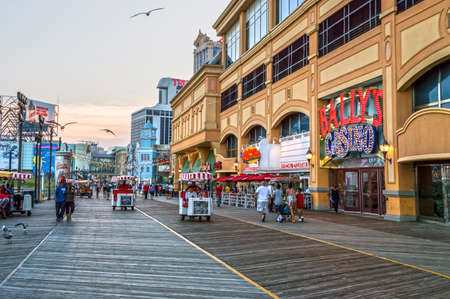 september 2: ATLANTIC CITY, NEW JERSEYUSA ?September 2: A quiet boardwalk on September 2 2014 in Atlantic City after the closing of several casinos in the news.
