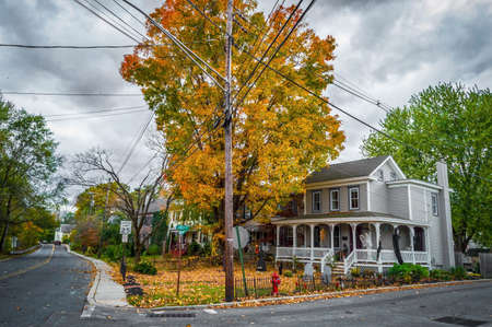 Rural scene during the Halloween season in FrenchtownNew Jersey.
