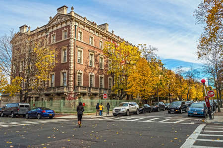 BOSTON-NOVEMBER 9 - The neighborhood around Boston University on  November 9 2013 in Massachusetts