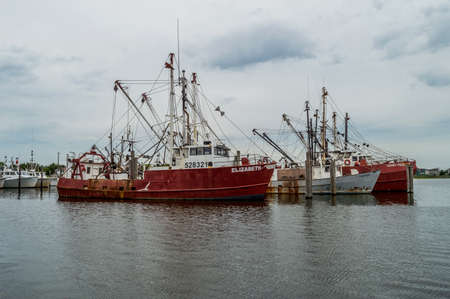 commercial fishing: BARNEGAT NEW JERSEY -JULY 7 - Commercial fishing boats on Barnegat Bay on July 7 2014 in New Jersey.