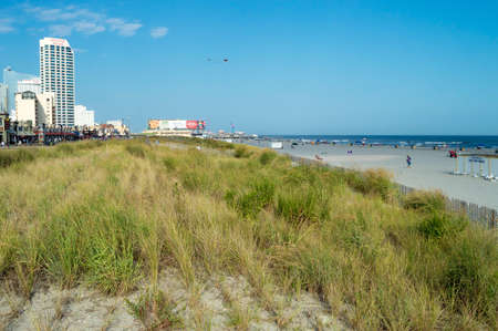 september 2: ATLANTIC CITY NEW JERSEY - SEPTEMBER 2: A Summer view of the beach on September 2 2014 in Atlantic City New Jersey.