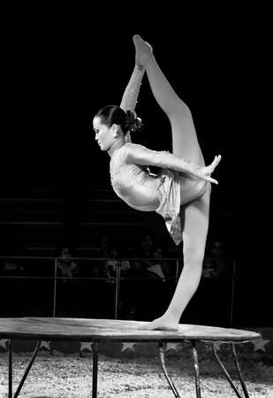 kelly: OLD BRIDGE NEW JERSEY JUNE 8  The incredible Maya from Mongolia a very flexible performer for The Kelly Miller Circus on June 8 2015 in Old Bridge NJ.