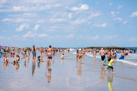 heat wave: BELMAR, NEW JERSEY-AUGUST 1- A heat wave made for a perfect beach day on August 1 2015 in Belmar New Jersey.
