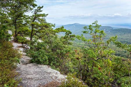 ny: A view of the Catskill Mountains from the Shawangunk Ridge in Ulster County NY.