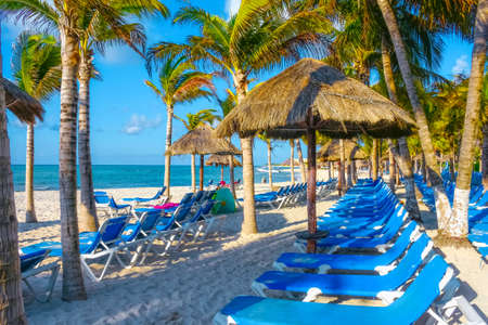 carmen: The only thing missing is you at this resort in Playa del Carmen, Mexico. Stock Photo