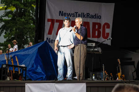 JACKSON, NEW JERSEY - JULY 21 - Sean Hannity and Colonel Oliver North at Freedom Concert at Six Flags Great Adventure on July 21, 2006 in Jackson NJ. Editorial
