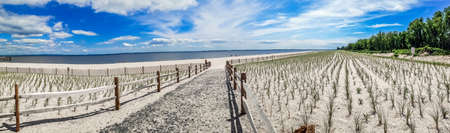 union beach: A panoramic view of Union Beach in Monmouth County along the Jersey Shore.