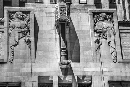 building exteriors: The Art Deco style of sculpture on this exterior wall building on lexington Avenue in Manhattan.