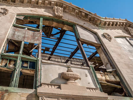 building structures: The abandoned casio building in Asbury Park NJ which has since been demolished. Stock Photo