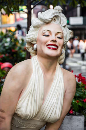 marilyn: NEW YORK-AUGUST 7- Forever Marilyn a statue by Seward Johnson on display August 7 2015 in midtown Manhattan. Editorial