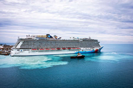 breakaway: KINGS WHARF,BERMUDA, MAY 25 - The Norwegian Breakaway cruise ship docked at the Royal Naval Dockyard on May 25 2016 in Bermuda. Editorial