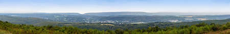 A panoramic view from Flagstaff Mountain in Carbon County Pennsylvania. Stock Photo