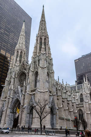 NEW YORK-JANUARY 20 - A view of St. Patrick's Cathedral on Fifth Ave on January 20 2017 in New York City.