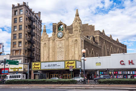 JERSEY CITY, NEW JERSEY - MARCH 8 - The historic Loew's Theater in Journal Square on March 8 2017 in Jersey City.