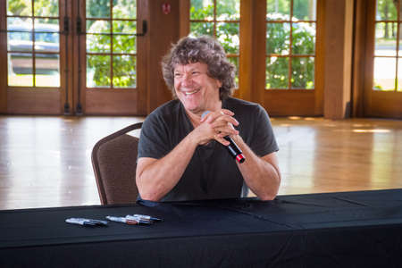 BETHEL, NEW YORK - August 13 - Michael Lang, author, concert promoter and co organizer of the 1969 Woodstock concert at the Museum at Bethel Woods for a book signing on August 13, 2017 in NY.