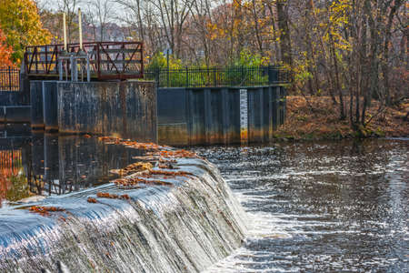 The Rancocas Creek was used to generate power for the industrial village of Smithville in the early 1900s. 写真素材
