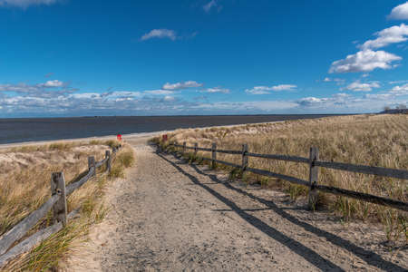 A scenic view of Bayshore Waterfront Park in Monmouth County New Jersey. 版權商用圖片