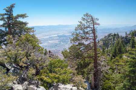 A scenic view of San Jacinto State Park in Riverside County California.