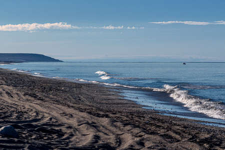 The black sand once attracted thousands of gold prospectors to Nome Alaska.