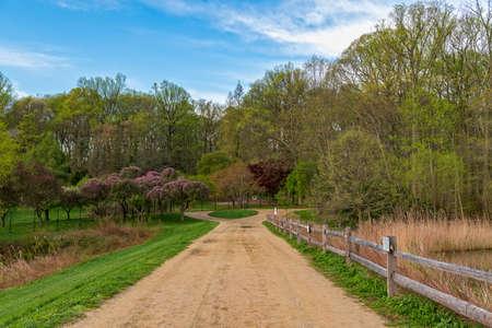 A Spring landscape taken in holmdel Park in Monmouth County New Jersey. Stock fotó