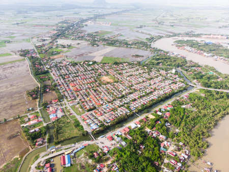 Aerial view of the resident area in Kedah,Malaysia.