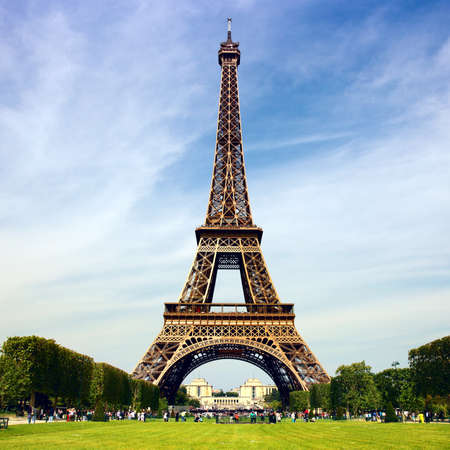 eiffel tower: Eiffel Tower - symbol of Paris Stock Photo