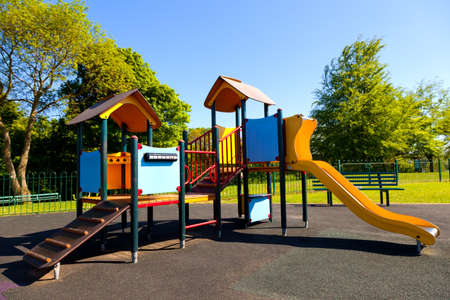 playground ride: A colourful slide