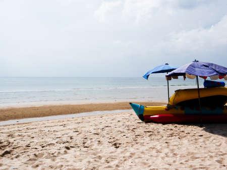 Banana Boat at Cha-am beach Thailand Stock Photo