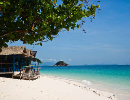 Beautiful beach in south of Thailand Stock Photo