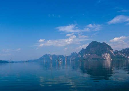 Blue Lake at southern of Thailand Stock Photo