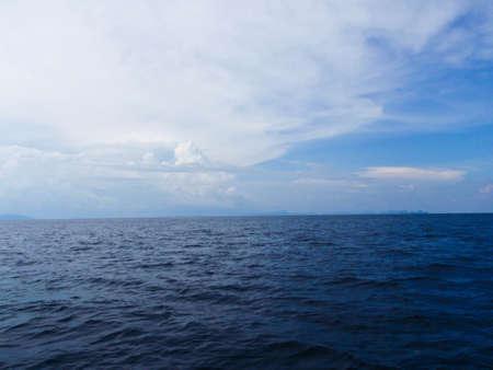 Blue sky and sea at Phuket Thailand