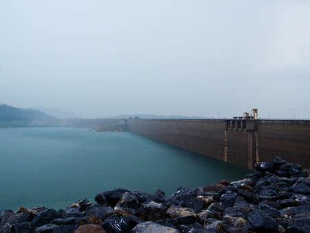 Dam in Nakorn Na Yok Thailand Stock Photo