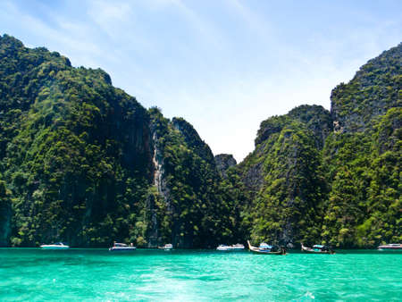 Green mountain and sea at south of Thailand