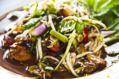 Cockles spicy salad