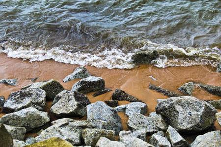 Rocks on beach
