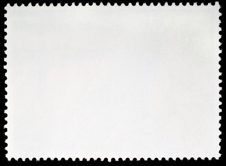 postcard back: Blank Postage Stamp Framed by Black Border