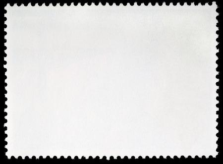 Blank Postage Stamp Framed by Black Border Reklamní fotografie - 22739793