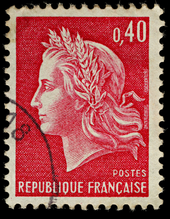 FRANCE - CIRCA 1967  A French Used Postage Stamp, circa 1967