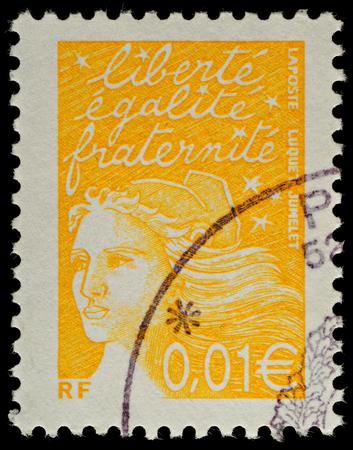 FRANCIA - CIRCA 2002 Un francese usato francobollo, intorno al 2002