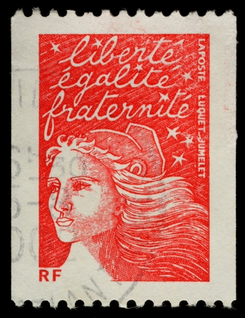 stamp collecting: FRANCE - CIRCA 2002  A French Used Postage Stamp, circa 2002 Editorial