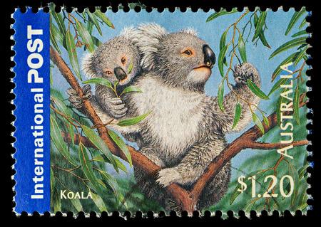 AUSTRALIA - CIRCA 2006  An Australian Used Postage Stamp showing Koala Bear, circa 2006 Sajtókép