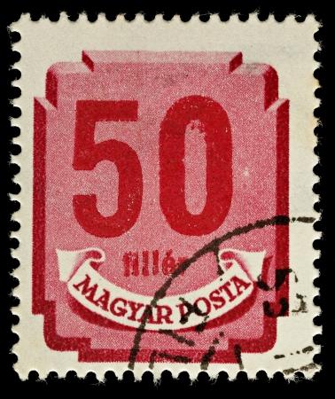 UNGHERIA - CIRCA 1946 A ungherese utilizzato francobollo mostrando 50 riempitivo, circa 1946