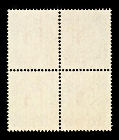 Blank Francobolli blocco di quattro con cornice, bordo nero