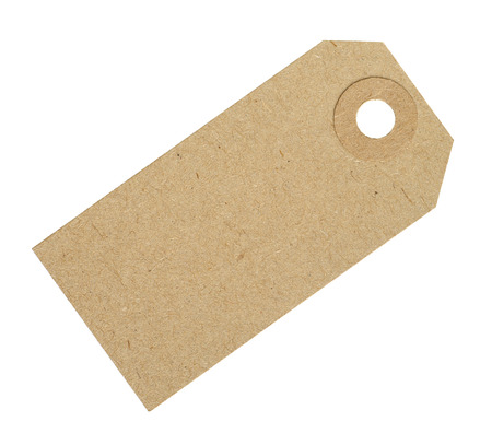 Blank Cardboard Tag Label Isolated on White Background